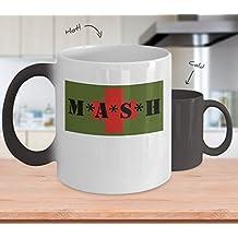 MASH 4077th - MASH War Comedy Mug Cup Heat Changing By: Trinkets & Novelty - This 11oz MASH Coffee Mug is MASH MASH Gift Merchandise For Fan