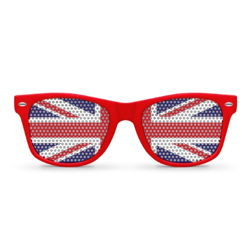 UNITED KINGDOM Flag Red Retro Party - Sunglasses British