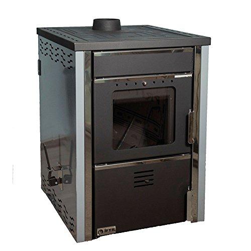 Caldera de leña estufa ifyil, Modelo Hammam, salida de calor 25 + 6 kW: Amazon.es: Bricolaje y herramientas