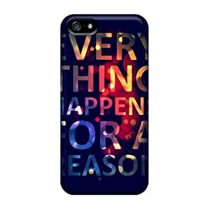 Forever Collectibles Everything Happens For A Reason Hard Snap-on Iphone 5/5s Case Kimberly Kurzendoerfer