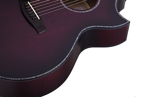 Schecter 3710 Acoustic-Electric Guitar, Vampyre Red Burst Satin