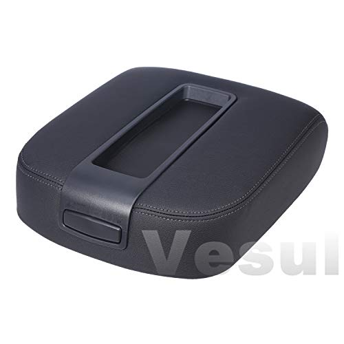 Vesul Armrest Center Console Cover Lid Compatible with Chevy Chevrolet Silverado,Tahoe,Suburban Avalanche,GMC Sierra,Yukon,Yukon XL 2007-2014 Replacement Kit 15217111 ()