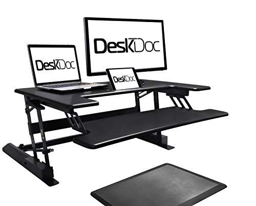 Premium Standing Desk, Stand Up, Anti-Fatigue Mat Included, 36