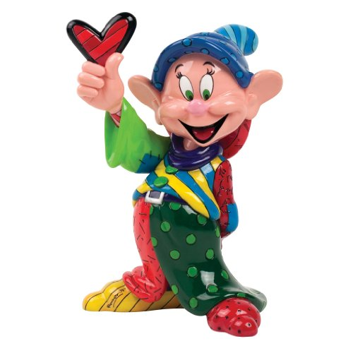 """Disney by Britto Dopey from """"Snow White"""" Stone Resin Figurine"""