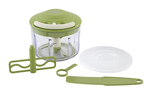 Multi Chopper with Pull Cord BPA Free (Green) by Lurch Germany (Chopper Veggy)
