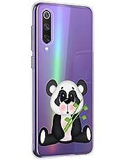 Oihxse Cristal Compatible con OnePlus 7 Funda Ultra-Delgado Silicona TPU Suave Protector Estuche Creativa Patrón Panda Protector Anti-Choque Carcasa Cover(Panda A2)