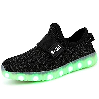 FASHOE Colors Breathable LED Light Up Shoes Flashing Sneakers For Kids Boys Girls