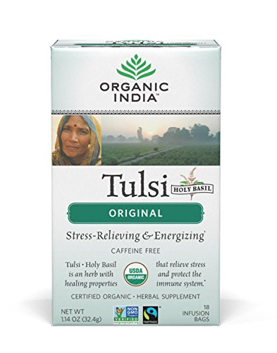 Original Tulsi Tea - Organic India Tulsi Tea Original, 18-Count Teabags (Pack of 6)