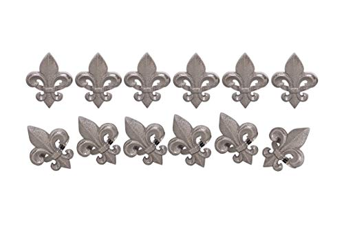 Fleur De Lis Napkin - Handcrafted Fleur-de-lis Metal Napkin Rings for Wedding Party Decoration Dinning Table Occasion Everyday Family Gatherings, Set of 12 - Silver - A Beautiful Emphasize to Your Dining Table Decor.