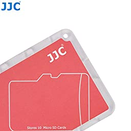 JW MCH-MSD10CN Credit Card Size Durable Lightweight Portable Memory Card Case Holder Protector With Writable Label For 10 Micro SD Cards + JW Cleaning Cloth