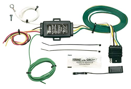Hopkins 48925 Tail Light Converter with 4 Wire Flat Extension (Tacoma Trailer Wiring Harness)