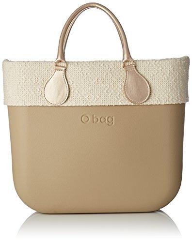 O bag Classic Natural, Borsa a Mano Donna, 14x31x39 cm (W x H x L) Multicolore (Sabbia)