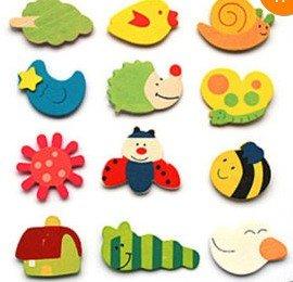 amazon com bestdealusa cartoon funny baby toy wooden fridge magnet