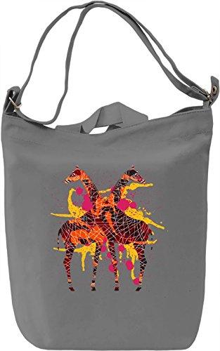 Giraffe Borsa Giornaliera Canvas Canvas Day Bag| 100% Premium Cotton Canvas| DTG Printing|