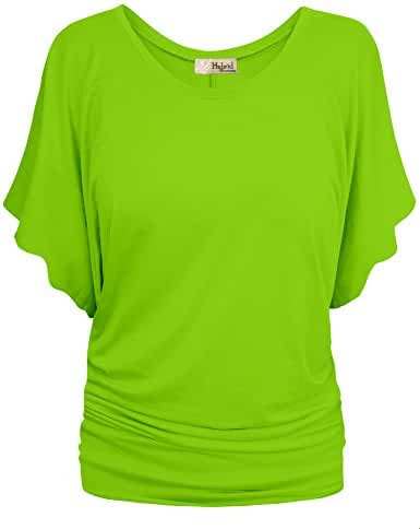 HyBrid & Company Womens Super Comfy Boat Neck Dolman Top Shirt