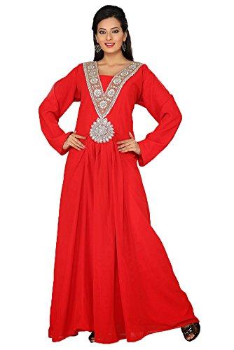 palasfashion Traditionelle Tragen Schnitt Maxi Kleid Damen kkpf17201