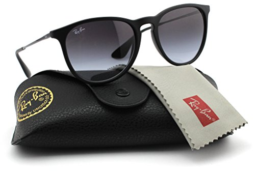 Ray-Ban RB4171 622/8G Erica Sunglasses Rubber Black Frame / Grey Gradient - Ban Ray Aviator Sale