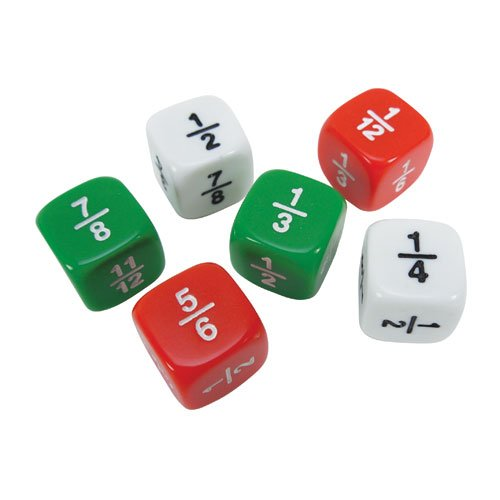 on Dice: Red, White, and Green - Set of 144 (Fraction Dice Set)