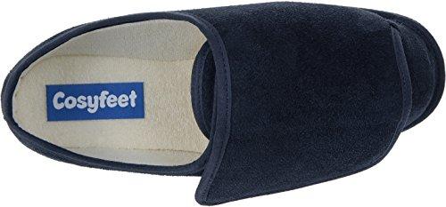 Cosyfeet Rowan Suede Slippers - Extra Roomy (Eeeee+ Width Fitting) Navy Suede fNhV4MHCG