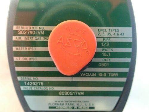 NEW ASCO 8030G17VM REDHAT SOLENOID VALVES 1//2 PIPE 16.1W,302790-VM,TG