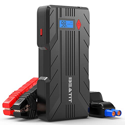 BEATIT QDSP 1200A (Up to 8.0L Gas or 6.0L Diesel Engines) 12V Portable Car Jump Starter Auto Battery Booster with Smart Jumper Cables B7 PRO