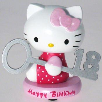 Hello Kitty Happy 18th cumpleaños figura decorativa: Amazon ...
