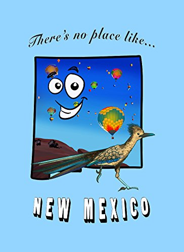 Rectangle Refrigerator Magnet - There's No Place Like New Mexico (Magnet Rectangle Hot)