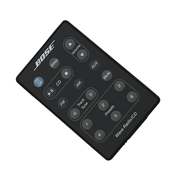 Bose Wave Radio/CD Remote Control (Black) - (AWRC-P1/AWRC-1G/AWRC-1B) - 193334-B02 6 Factory Original Replacement remote control for Bose Wave Radio/CD. This is the original remote from the Bose factory in the black color. It is compatible