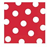 Red Polka Dot Beverage Napkins (36 count), Health Care Stuffs