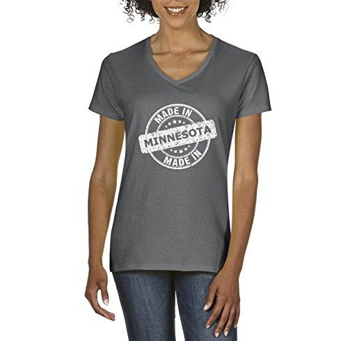 Ugo Made in MN Map Minneapolis Flag Golden Gophers Home University of Minnesota Women's V-Neck T-Shirt Tee