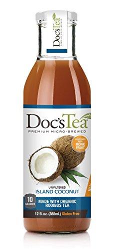 Price comparison product image Doc's Tea Flavored Tea,  Island Coconut,  12 Fluid Ounce (Pack of 12)