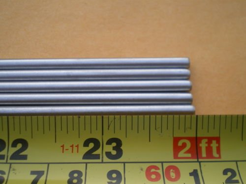Glob 15 STAINLESS STEEL ROUND ROD 304, 5/32'' (.156'') (4MM.) X 24'' LONG
