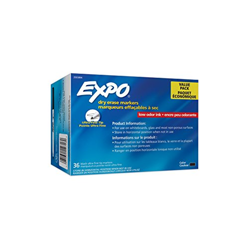 Expo Low Odor Ultra Fine Black Dry Erase Markers, Box of 36 by Expo (Image #6)