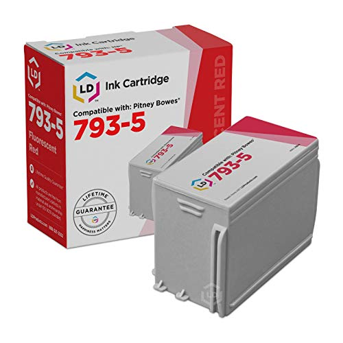 (LD Compatible Ink Cartridge Replacement for Pitney Bowes 793-5 (Fluorescent Red))