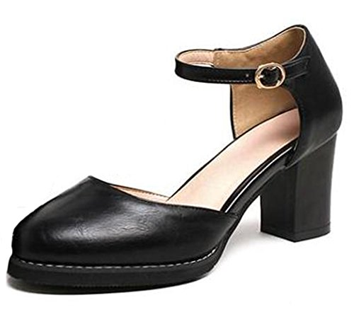 Sandales Sangle Avec Buffle Noir lkhXC