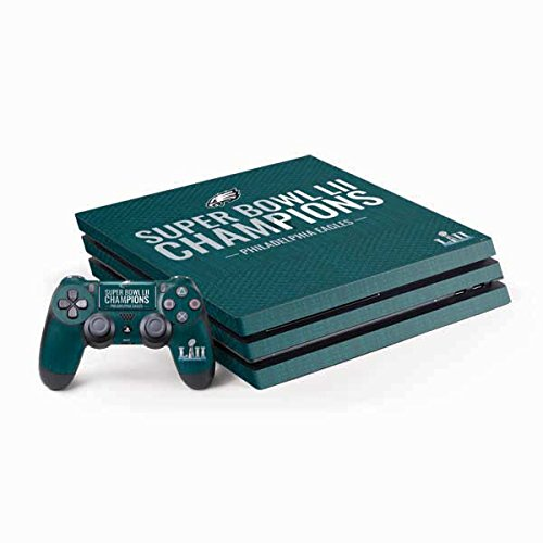(Skinit NFL Philadelphia Eagles PS4 Pro Bundle Skin - Philadelphia Eagles Super Bowl LII Champions Design - Ultra Thin, Lightweight Vinyl Decal Protection)