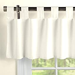 Carousel Designs Solid Ivory Window Valance Tab-Top