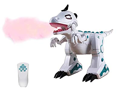 Party Zealot Remote Control Robot Dinosaur Toy for Boys - Fire Spray Effect, On Wheels, Wireless Remote Control, Sound & Music All in One