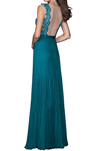Royal Linie Promkleider Brautmutterkleider A Lang Damen Braut Blau Spitze Royal Abschlussballkleider Blau Rock La Abendkleider mia Unw67qzF