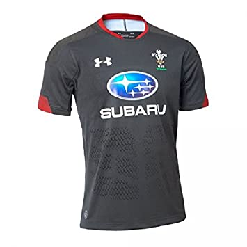 46f9d2c7a14 Under Armour Men's Welsh Rugby Supporters Alternate Jersey, Anthracite  (017), Small