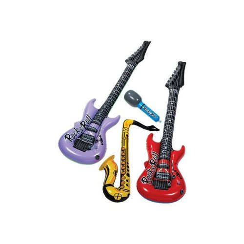Inflatable Instruments Bulk (AmscanJukebox Rock Party Inflatable Instrument)