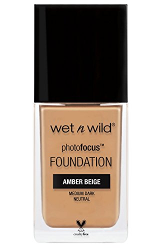 (wet n wild Photo Focus Foundation, Amber Beige, 1 Fluid Ounce )