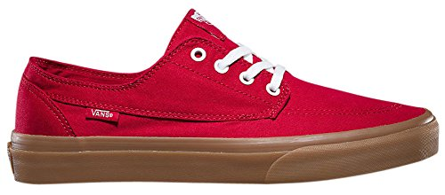 Vans Unisex Brigata Skate Shoes, Nautically Inspired Boat Shoe Classic, Comfortable and Durable in Original Waffle Outsole Chili Pepper