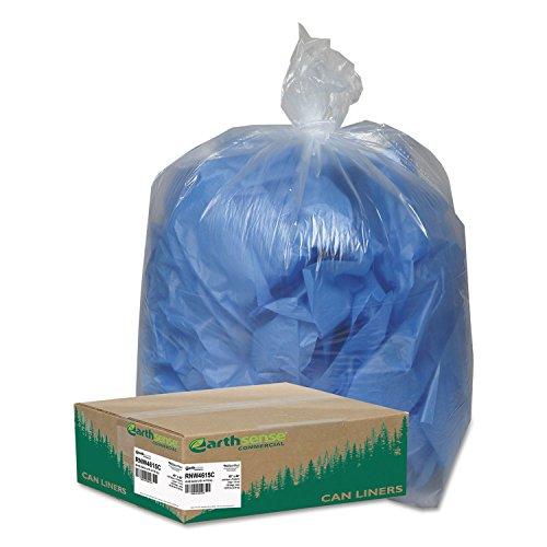 Webster WBIRNW4615C Coreless Heavy-Duty Can Liners, Low Density, Resin, 45 gal, 40'' x 46'', 1.50 mil (38 µm) Thickness, Clear (Pack of 100) by Webster