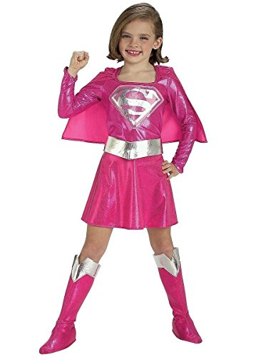 [Pink Supergirl Child's Costume, Medium] (Supergirl Costumes Pink)