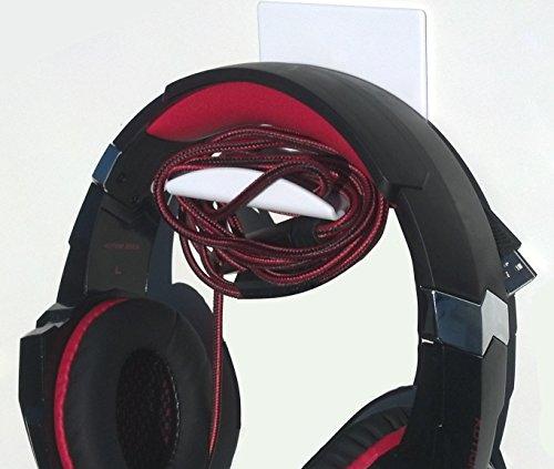 Stick On White XL Headphone Hooks 2 PACK by elhook (Image #7)