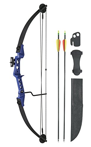 Leader Accessories Compound Bow 19-29lbs 24' - 26' Archery Hunting Equipment with Max Speed 129fps, Blue/Black