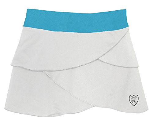 (Loriet Girls Monaco Performance Skorts White/Turquoise Large)