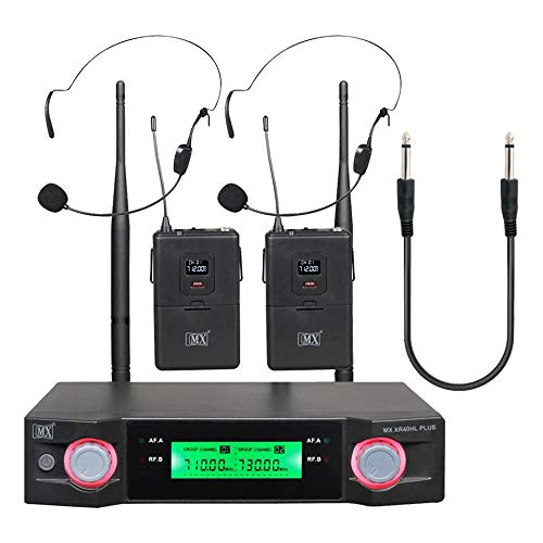 Maxcart Professional UHF Wireless Microphone with Lapel Lapel Combination with Free Handsets