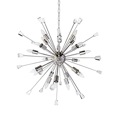 Dante Italian Starburst 24 Light Sputnik Chandelier